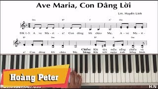 Hướng dẫn đệm Piano: Ave Maria! Con Dâng Lời - Hoàng Peter