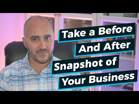When Marketing, Take a 'Before and After' Snapshot of your Business