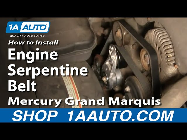 how to replace serpentine belt 00 02 mercury grand marquis 4 6l 1a auto mercury grand marquis 4 6l