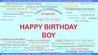 Boy   Languages Idiomas - Happy Birthday