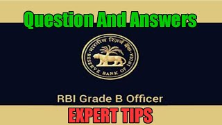 rbi grade b phase 1 expert tips and questions on ga misc