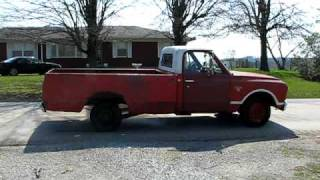 Friends truck 1967 Chevy burn out