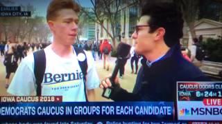MSNBC Talks To Iowa Student Feeling The Bern
