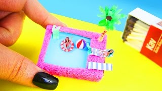 DIY | How to Make a Miniature Matchbox Pool - simplekidscrafts