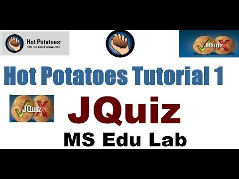 Hot Potatoes Tutorial 1   JQuiz   URdu/Hindi