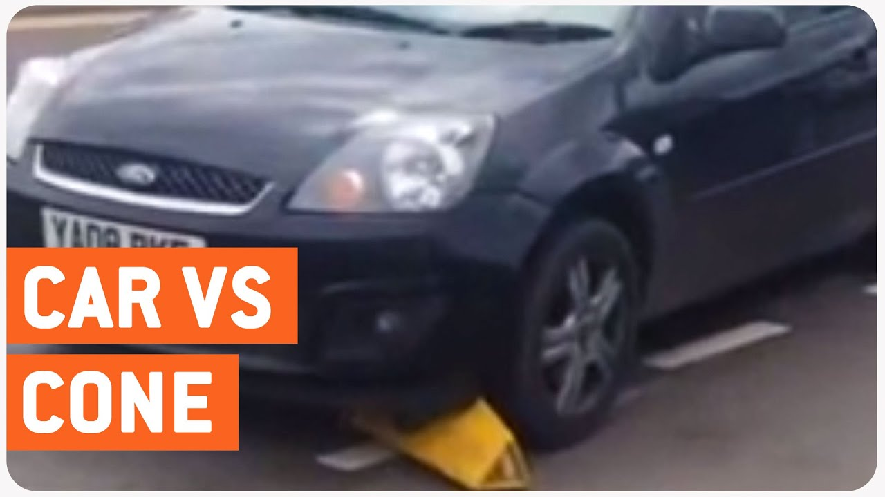 Car Vs Traffic Cone Road Showdown Youtube