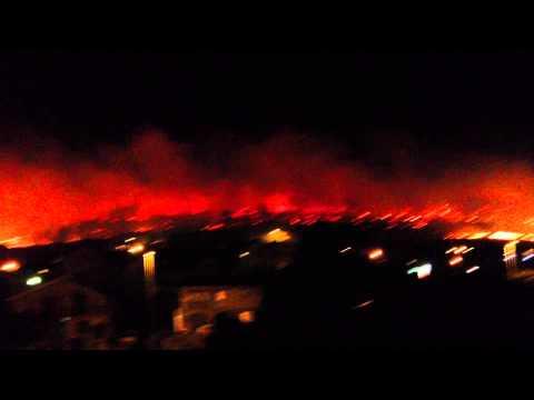 Fire In Podgorica 2012 Montenegro Footage!