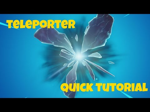 TELEPORTER Quick Tutorial *new Device* Fortnite Creative Chapter 2