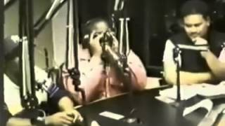 Notorious B.I.G 8 days before he passed away on the wake up show.