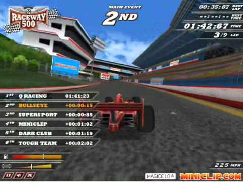 Raceway 500 - Miniclip Gameplay by Magicolo - YouTube