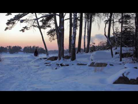 Snowy winter scenes from Espoo, Finland