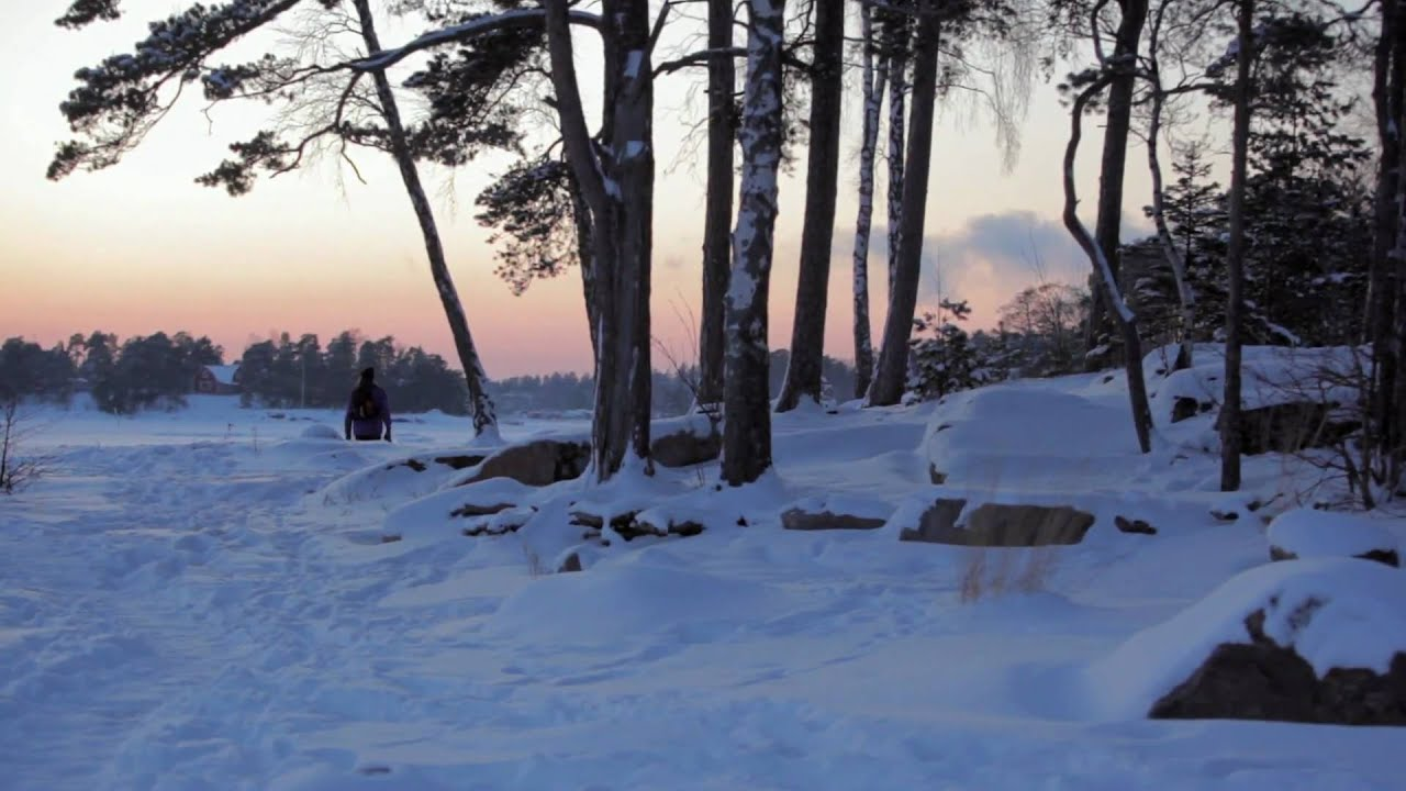 snowy winter scenes from espoo finland youtube. Black Bedroom Furniture Sets. Home Design Ideas