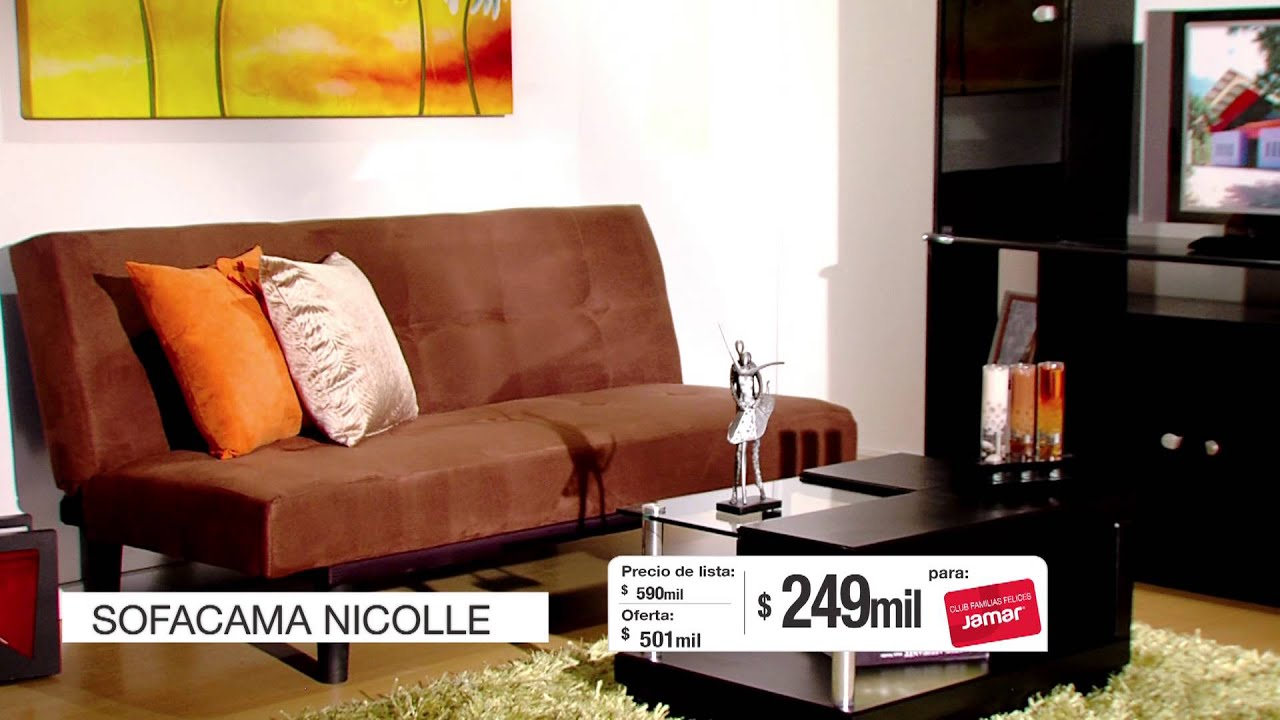Jamar familias felices 2013 sofacama nicolle youtube Muebles de sala jamar 2016