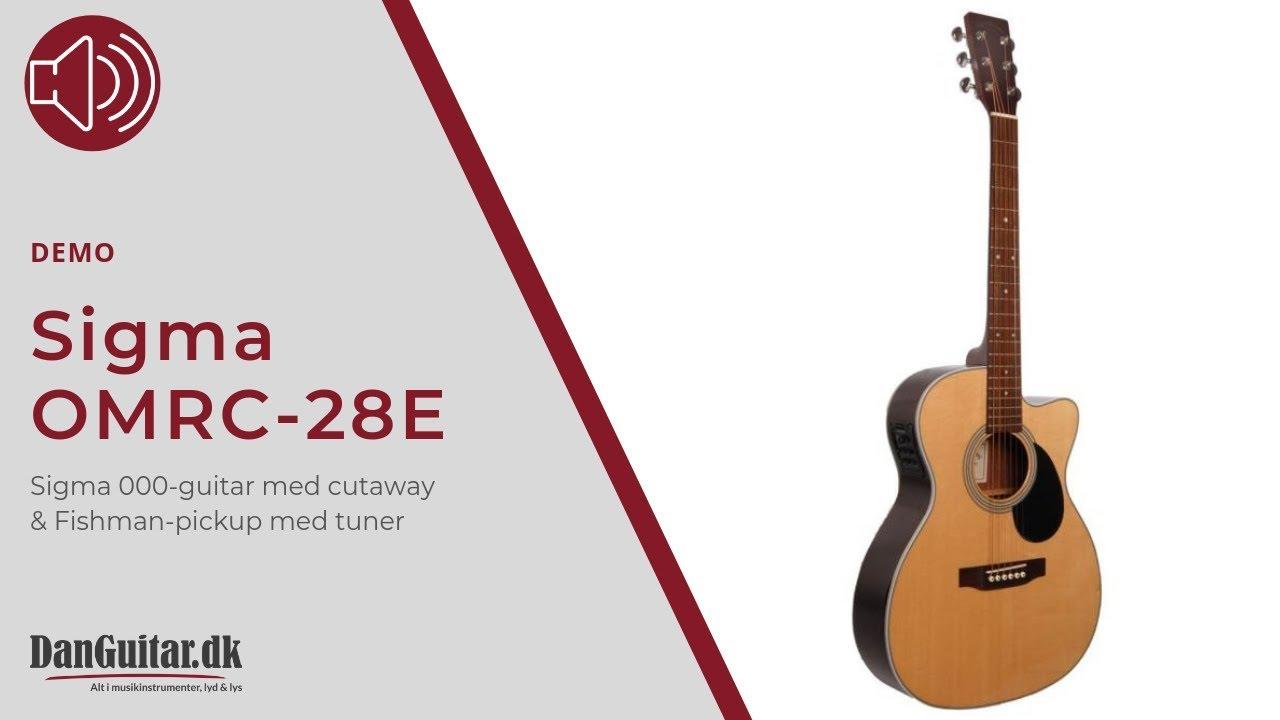 Sigma OMRC-28E Halvakustisk Western-Guitar fra DanGuitar ...