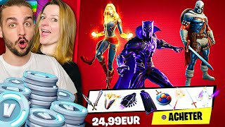 ON ACHETE BLACK PANTHER ET CAPTAIN MARVEL ET ON FAIT TOP 1 ! | FORTNITE DUO