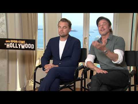 "Brad Pitt and Leonardo DiCaprio details  The press tour for ""Once Upon a Time in Hollywood"""