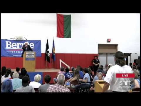 Pro-Sanders Lifelong Republican and Small Business Owner at Meskwaki Nation Iowa Town Hall