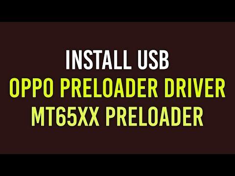 Install USB OPPO Preloader Driver | MT65xx Preloader