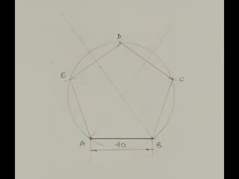 Download How to draw a pentagon - Engineering drawing - Technical drawing