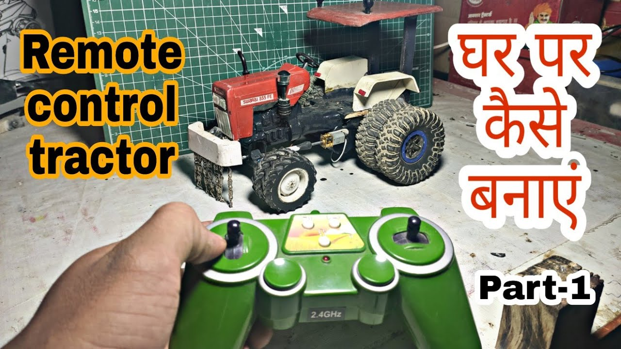 Download How to make Remote control Tractor model at Home Swaraj 855 by Mr.pendu jatt Part-1