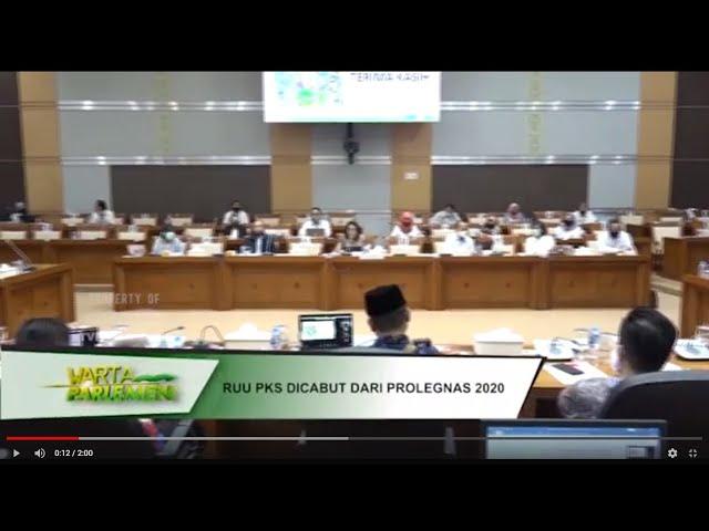 WARTA PARLEMEN - RUU PKS DICABUT DARI PROLEGNAS 2020