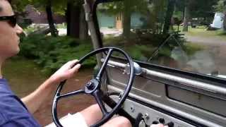 Driving a 1949 Willys CJ-3A