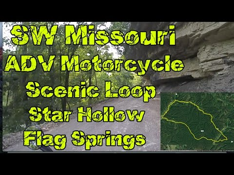 SW Missouri Adventure Motorcycle Loop Star Hollow to Flag Springs Honda CRF250L