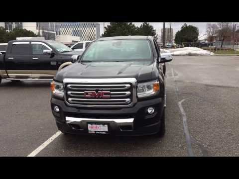 2017 GMC Canyon 4WD Crew Cab SLT Heated Seats FWD Collision Warning Black Oshawa ON Stock  #170601