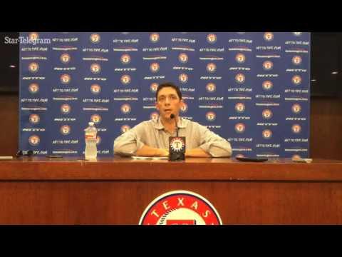 Rangers GM Jon Daniels discusses trades for Jonathan Lucroy, Carlos Beltran