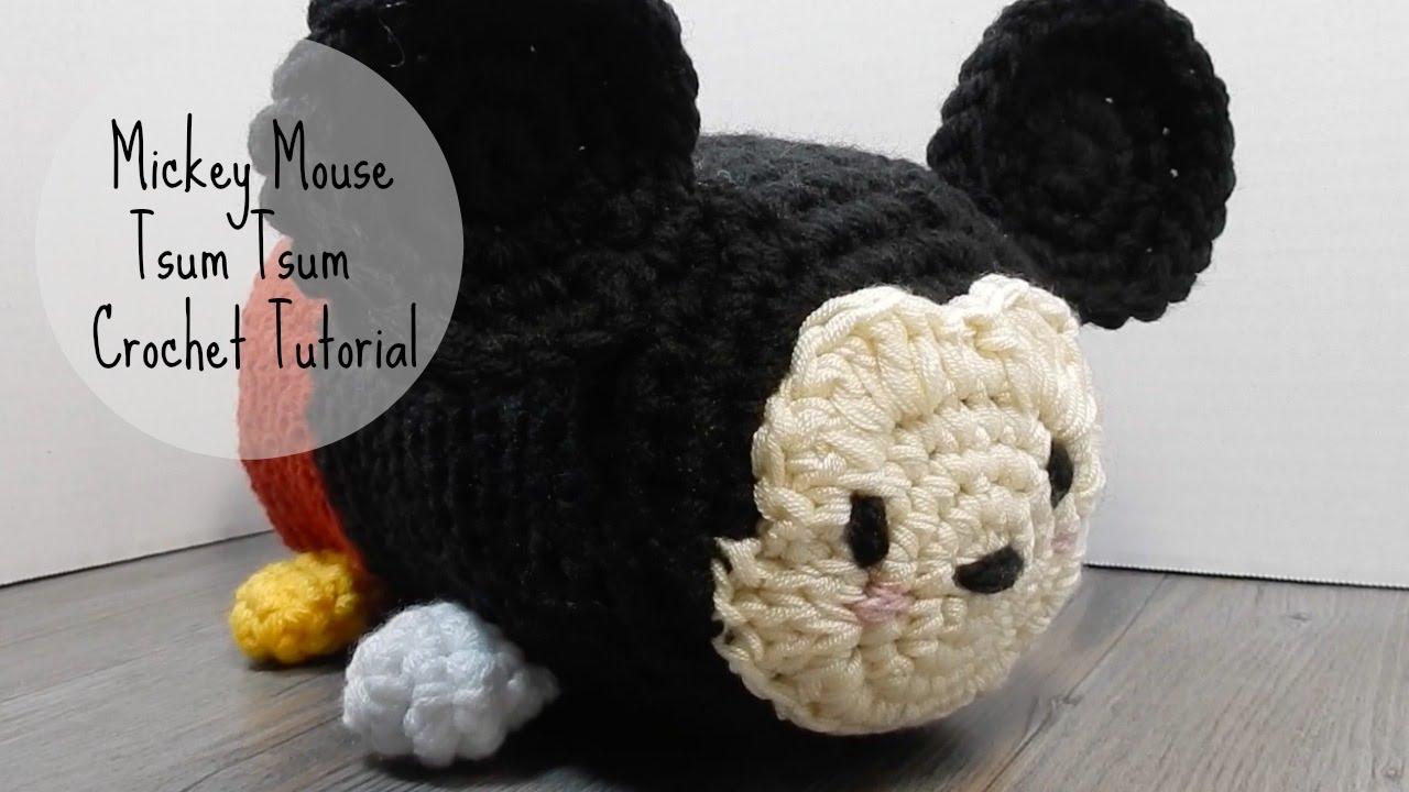 Tejido Amigurumi Tutorial : Amigurumi mickey mouse tsum tsum crochet tutorial youtube