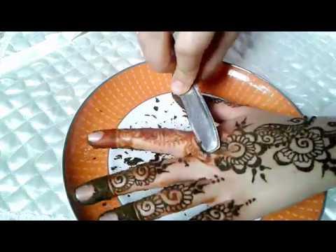 الطريقة التي استعملها لازالة الحناء مع وصفة لجعلها اكثر نظارة من سلسلة دروس تعليم النقش بالحناء Youtube