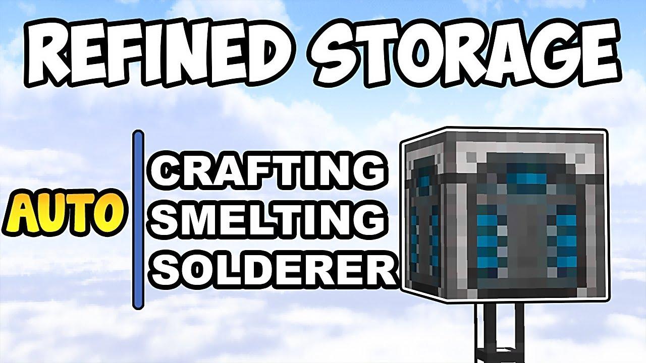 AUTOCRAFTING, AUTO SMELTING and AUTO SOLDERER w/ REFINED STORAGE •  Minecraft Mod Showcase