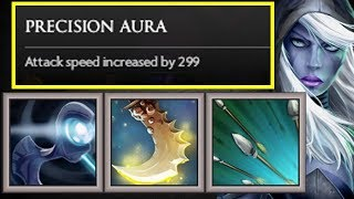 +300 Precision Aura Attack Speed INSANE   Dota 2 Ability Draft