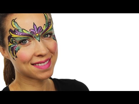 Advanced Carnival Mask Face Paint Tutorial | Snazaroo