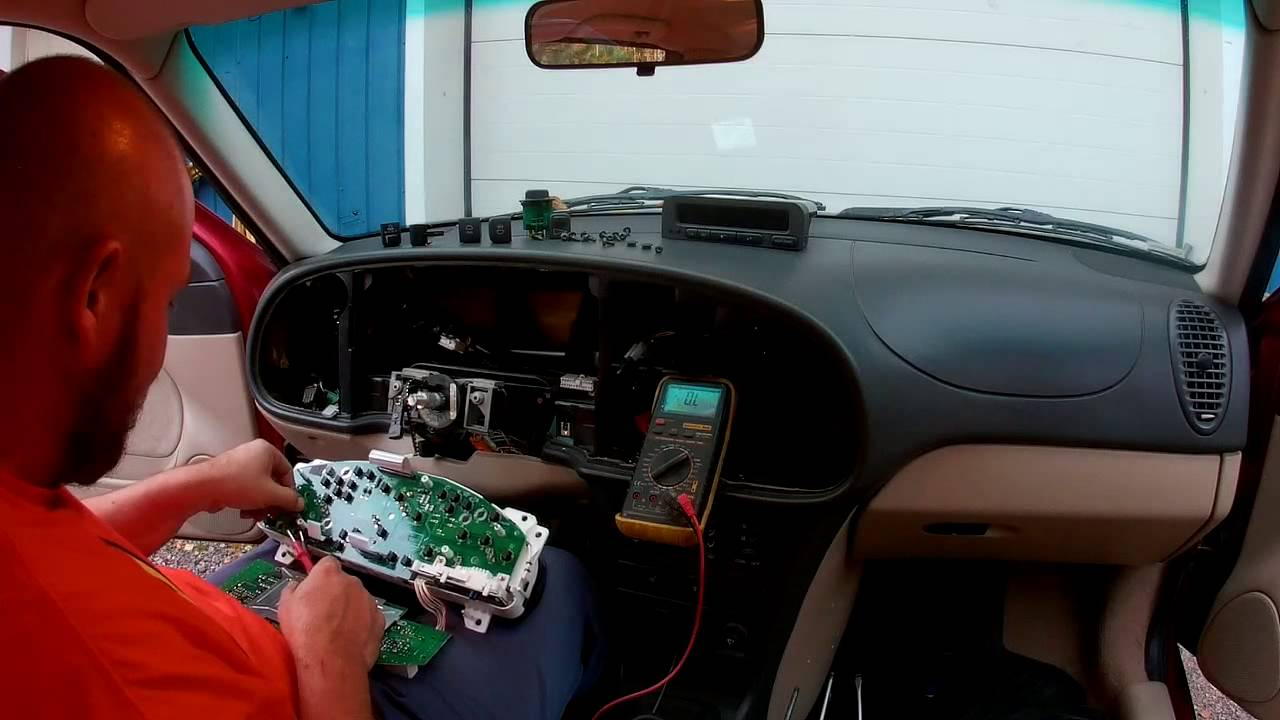 Saab 9 3 Replacing Instrument Cluster Light Bulbs Youtube