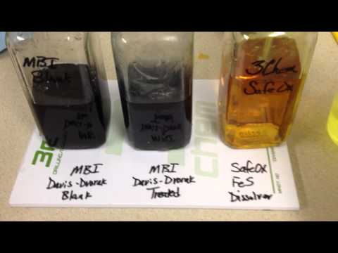 Chlorine Dioxide test in iron sulfide sample