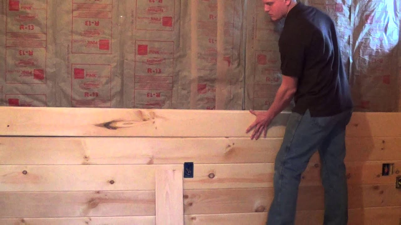 Tongue And Groove Paneling Intall Video Youtube