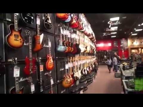 Guitar Center Las Vegas Walk Around January 2014.