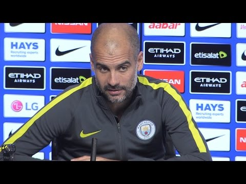 Pep Guardiola Press Conference - Stoke v Manchester City - Post Embargo Extras - Praises Sterling