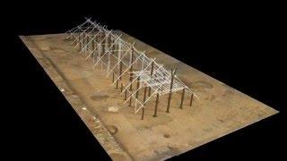 Praha - VInoř: 3D rekonstrukce neolitického domu