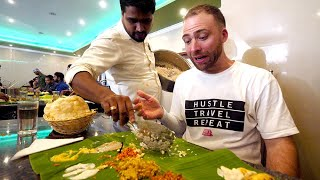 ALL YOU CAN EAT Indian Vegetarian Food in KERALA - Banana Leaf Sadhya for $2.78 | Trivandrum, India