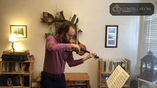 Joseph Maile: Hindemith - Sonata for solo violin, Op. 31 No. 1, Sehr lebhafte Achtel