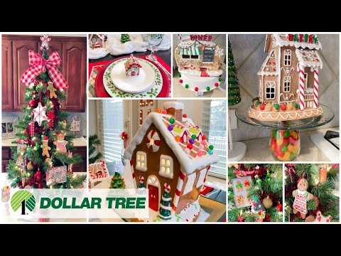 CHRISTMAS KITCHEN DECORATE WITH ME | DOLLAR TREE DIYS | GINGERBREAD
