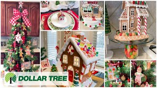 CHRISTMAS KITCHEN DECORATE WITH ME   DOLLAR TREE DIYS   GINGERBREAD