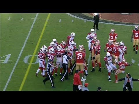 Late Hit On CJ Beathard Causes Fight With 3 Ejections  Cardinals vs 49ers  NFL