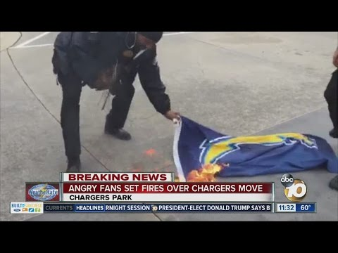 Fan emotions run high as Chargers make decision to bolt San Diego
