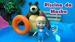 Masha e o Urso  Tubarão na Piscina ? MASHA AND THE BEAR  SHARK #MASHA #MASHAEOURSO #TiaCris