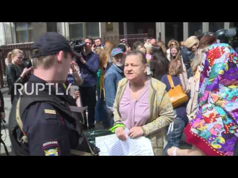 Russia: Several protesters detained during Moscow anti-Renovation Law rally