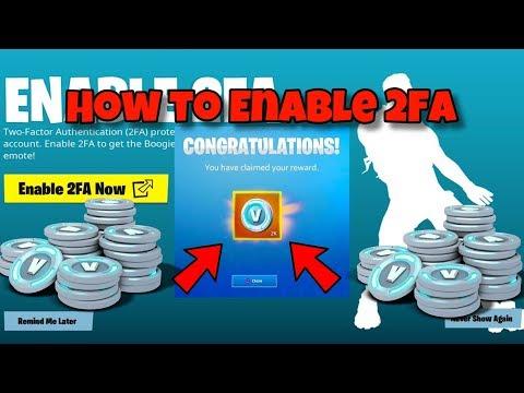 How to Enable 2-FA in Fortnite (Free 1000 V-Bucks)