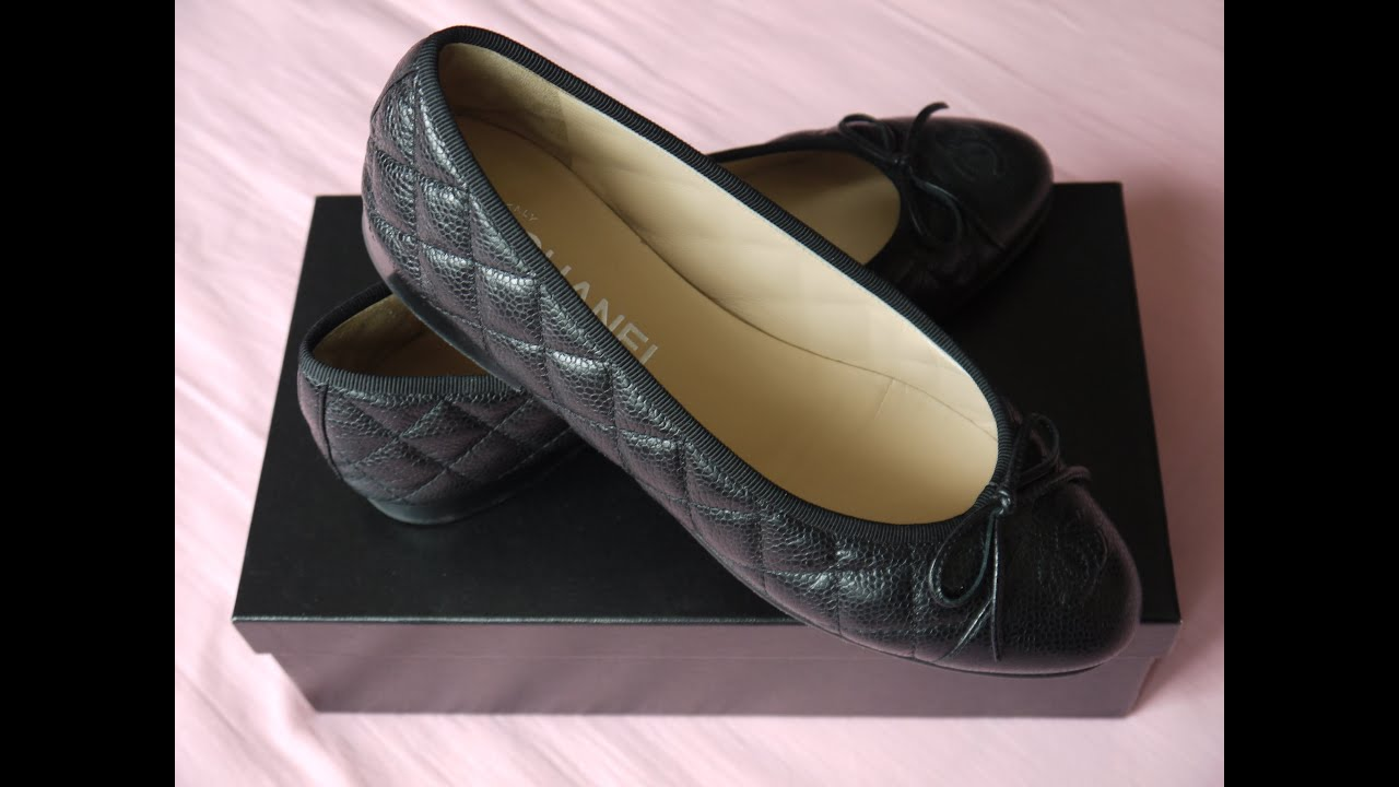 Chanel Shoes Black Flats